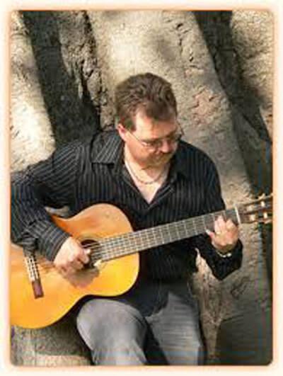 David Fryatt playing guitar